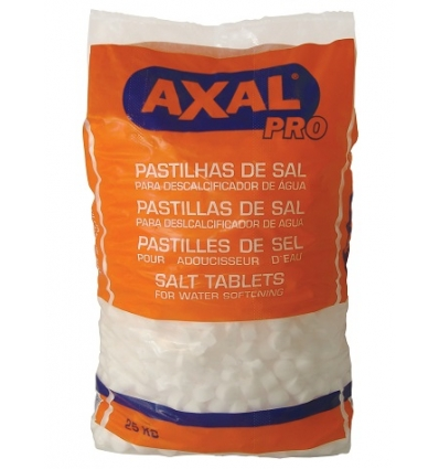 Embalagem de 25 kg Sal AXAL Pastilhas